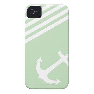 Verde del helado de la menta náutico Case-Mate iPhone 4 protectores