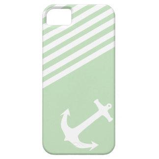 Verde del helado de la menta náutico iPhone 5 fundas