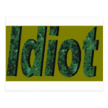 Verde del idiota tarjeta postal