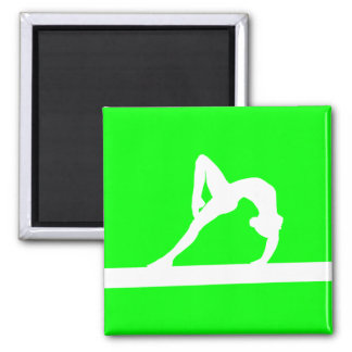 Verde del imán de la silueta del gimnasta