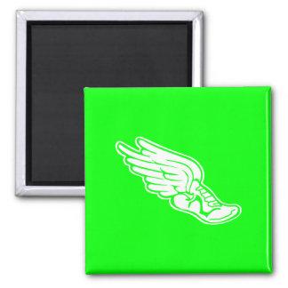 Verde del imán del logotipo de la pista
