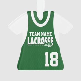 Verde del jersey de los deportes de LaCrosse con