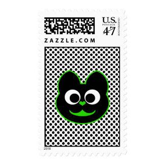 Verde del Kat del gatito Sellos Postales