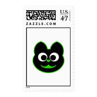 Verde del Kat del gatito Timbre Postal