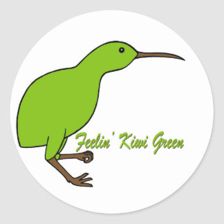 Verde del kiwi de Feelin Pegatina Redonda