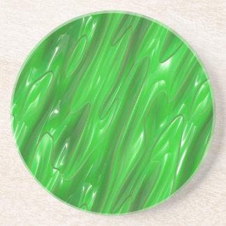Verde del líquido posavasos para bebidas