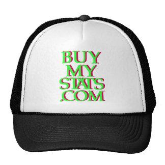 verde del logotipo de BuyMyStats.com 3D con la som Gorras De Camionero