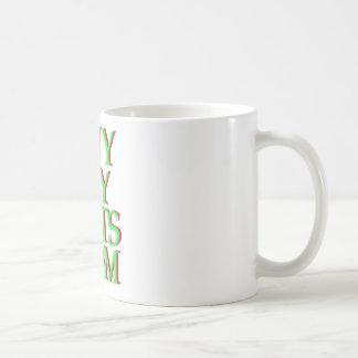 verde del logotipo de BuyMyStats.com 3D con la Taza De Café