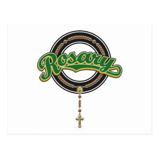 Verde del logotipo de la escritura del círculo del postales
