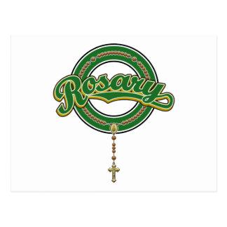 Verde del logotipo de la escritura del círculo del tarjetas postales