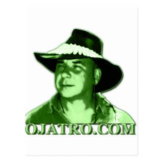 Verde del logotipo de Ojatro Tarjeta Postal