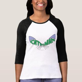 Verde del logotipo del Catwoman Playeras