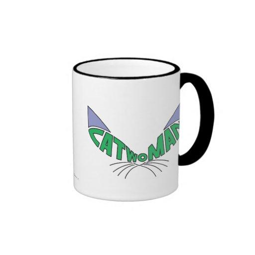 Verde del logotipo del Catwoman Tazas De Café
