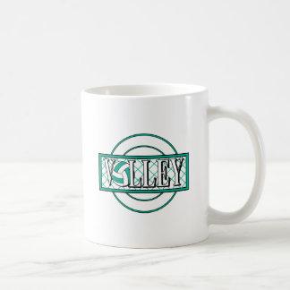 verde del logotipo del voleo tazas