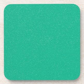 Verde del lucite de PANTONE con falso brillo fino Posavasos De Bebidas