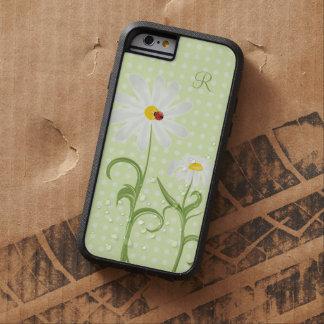 Verde del lunar de la margarita blanca y de señora funda de iPhone 6 tough xtreme