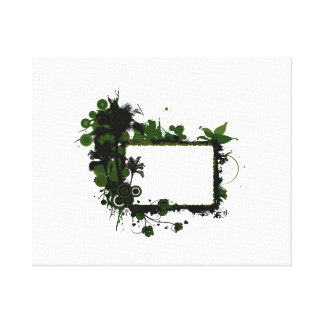 Verde del marco de la palmera y black.png impresion de lienzo