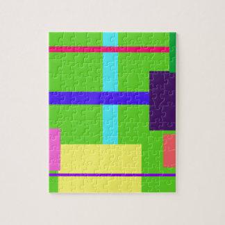 Verde del Minimalist Puzzle Con Fotos