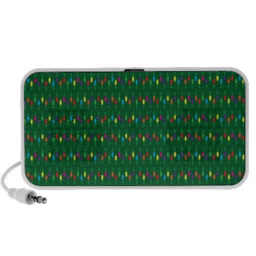 Verde del modelo de la luz de navidad iPod altavoces