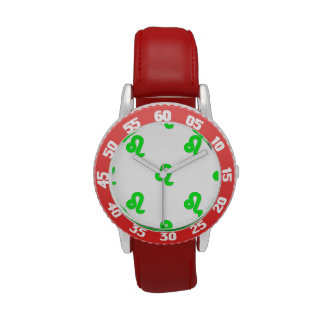 Verde del modelo de Leo Relojes De Mano