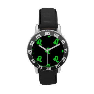 Verde del modelo de Leo Relojes De Pulsera