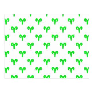 Verde del modelo del aries tarjetas postales
