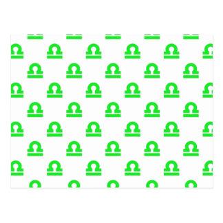 Verde del modelo del libra tarjeta postal