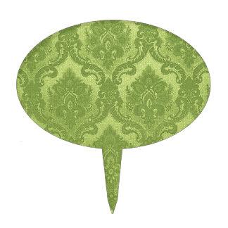 Verde del modelo del papel pintado del vintage decoraciones para tartas