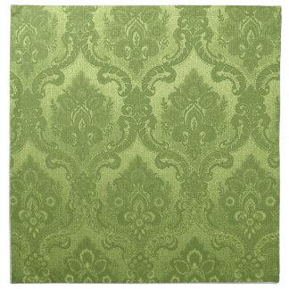 Verde del modelo del papel pintado del vintage servilleta imprimida