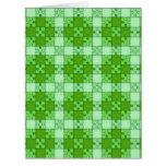 verde del modelo del rompecabezas tarjetas