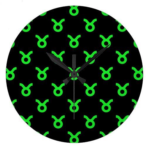 Verde del modelo del tauro reloj redondo grande