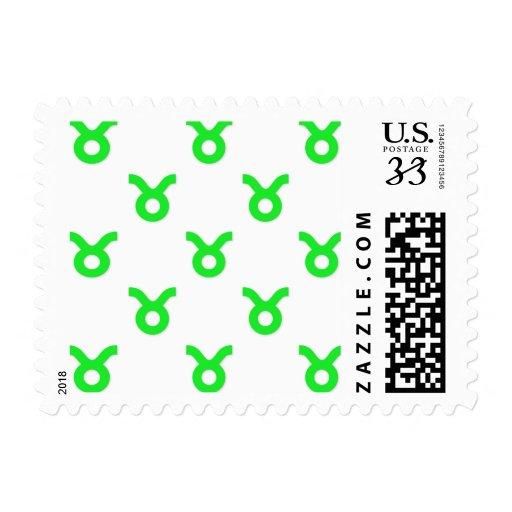 Verde del modelo del tauro sello