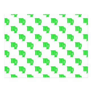 Verde del modelo del virgo tarjeta postal