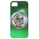 Verde del MONOGRAMA de los JINETES del CRÁNEO iPhone 5 Protectores