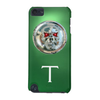 Verde del MONOGRAMA de los JINETES del CRÁNEO Funda Para iPod Touch 5G