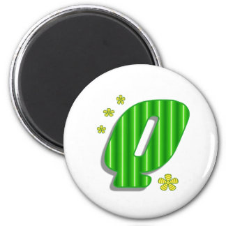 Verde del monograma de Q Imanes