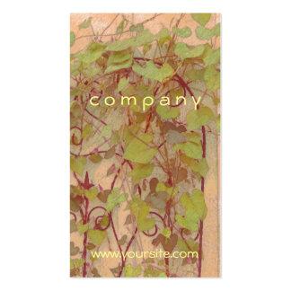 Verde del naranja del enrejado de la correhuela tarjetas de visita