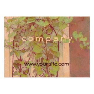 Verde del naranja del enrejado de la correhuela tarjetas de visita grandes