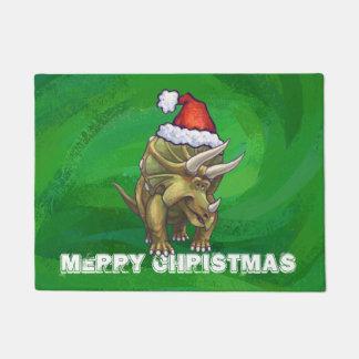 Verde del navidad del Triceratops Felpudo