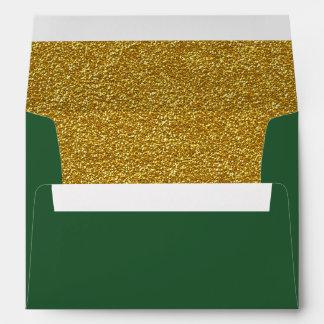 Verde del navidad y sobre del personalizado del
