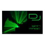 Verde del negro de las tarjetas de visita de DJ