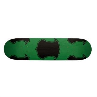 """Verde del negro del escudo del escudo patineta 7 1/8"""""""