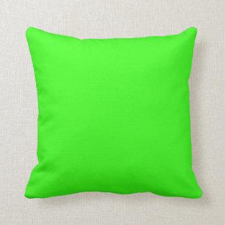 Verde del neón cojines