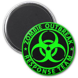 Verde del neón del equipo de la respuesta del brot imán