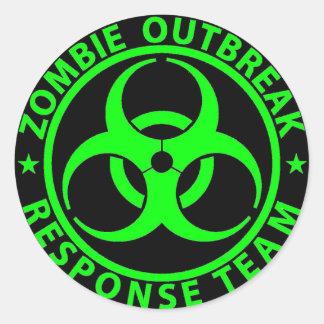 Verde del neón del equipo de la respuesta del brot