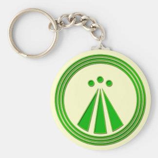 Verde del neón del símbolo de OBOD Llavero Redondo Tipo Pin