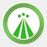 Verde del neón del símbolo de OBOD Pegatina