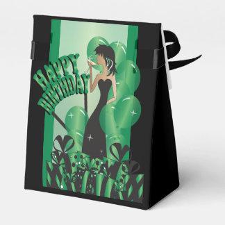Verde del nombre el   del chica el   DIY de la Caja Para Regalos De Fiestas
