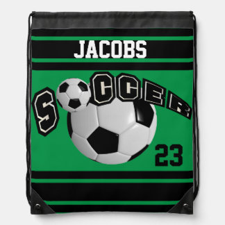 Verde del nombre y del número el   del jersey el   mochilas