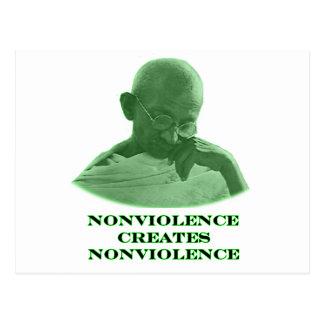 Verde del Nonviolence los regalos de Zazzle del Tarjetas Postales
